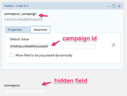 ConveYour campaign registration through Gravity Forms